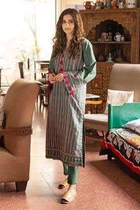 2 Piece Unstitched Lawn Printed Suit TL-326 A