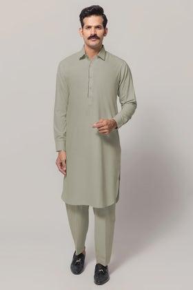 Light Green Unstitched Fabric GUL COMFORT