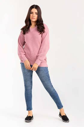 Cotton V-Neck Pull Over Sweater  SWT-FW21-040