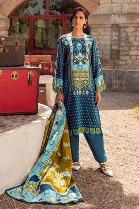 3PC Unstitched Printed Khaddar Suit K-12028 A
