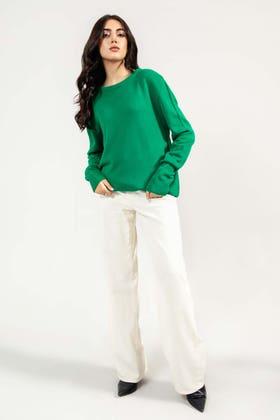 Soft Acrylic Round Neck Sweater WG-SWT-W21-003 C