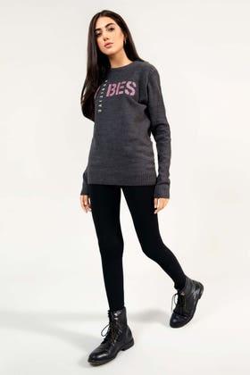 Soft Acrylic Slogan Sweater WG-SWT-W21-004 A