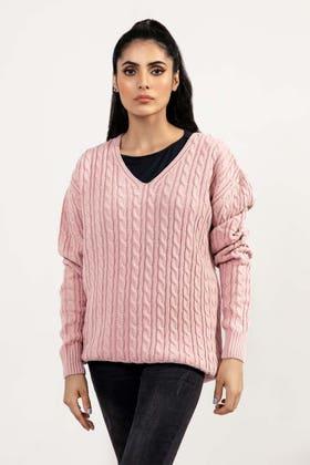 Soft Acrylic V Neck Sweater WG-SWT-W21-005 B