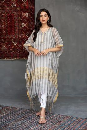 Yarn Dyed Zari Stripes Kaftan WGK-KFS-DY-02