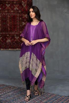 Yarn Dyed Net Kaftan WGK-KFS-DY-04