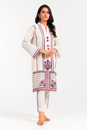 Cambric Dyed Embroidered Shirt and Cambric Dyed Embroidered Trouser WGK-LWS-DE-457