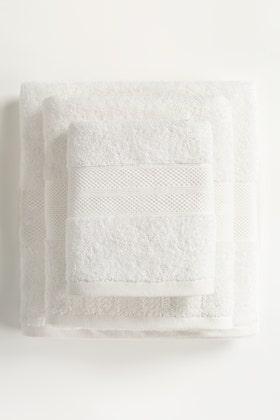 White Combed Towel Plain