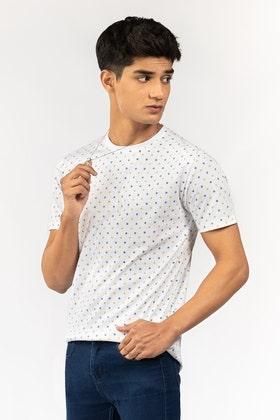 White Printed T-Shirt JCN-PRINT-07-02