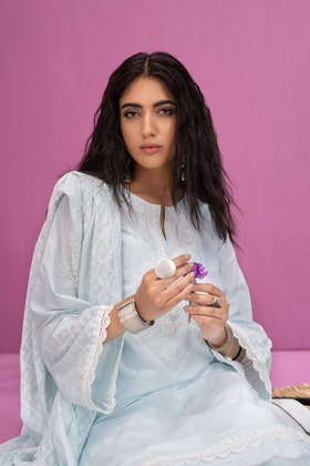 Lawn Dyed Embroidered Shirt with Lawn Dyed Embroidered Dupatta WGK-LWS-DE-402