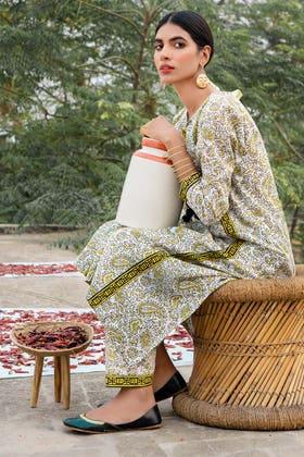 1PC Unstitched Printed Lawn Fabric SL-894 B