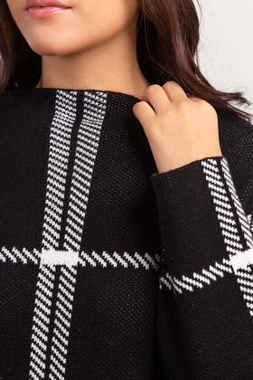 Cotton Funnel Neck Pull Over Sweater  SWT-FW21-013