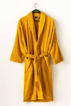 Yellow Combed Bathrobe