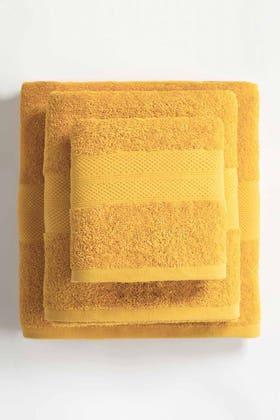 Yellow Combed Towel Plain
