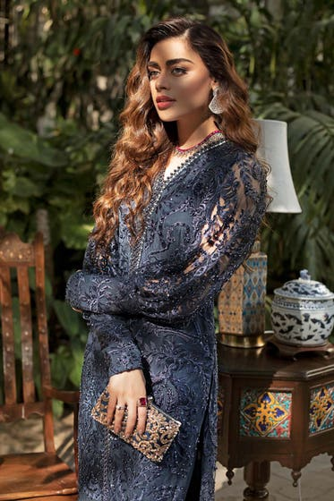 2PC Royal Festive Embroidered Suit BR-17